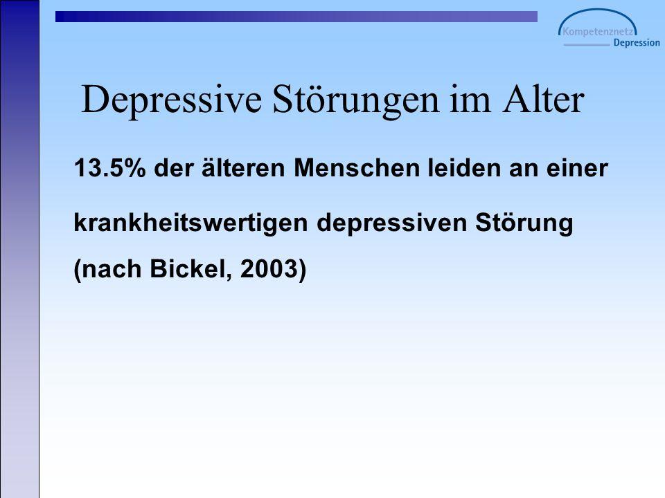 Depressive Störungen im Alter