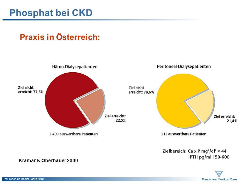 Phosphat bei CKD Praxis in Österreich: Kramar & Oberbauer 2009