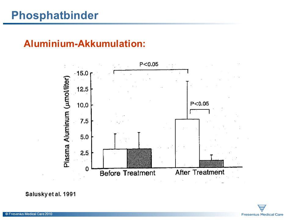 Phosphatbinder Aluminium-Akkumulation: Salusky et al. 1991