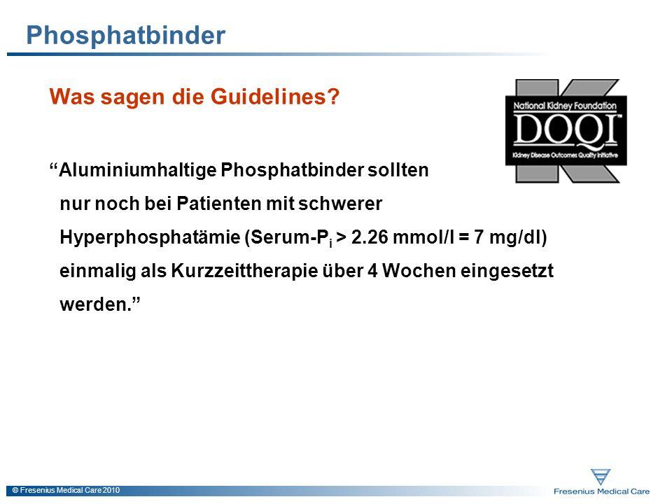 Phosphatbinder Was sagen die Guidelines