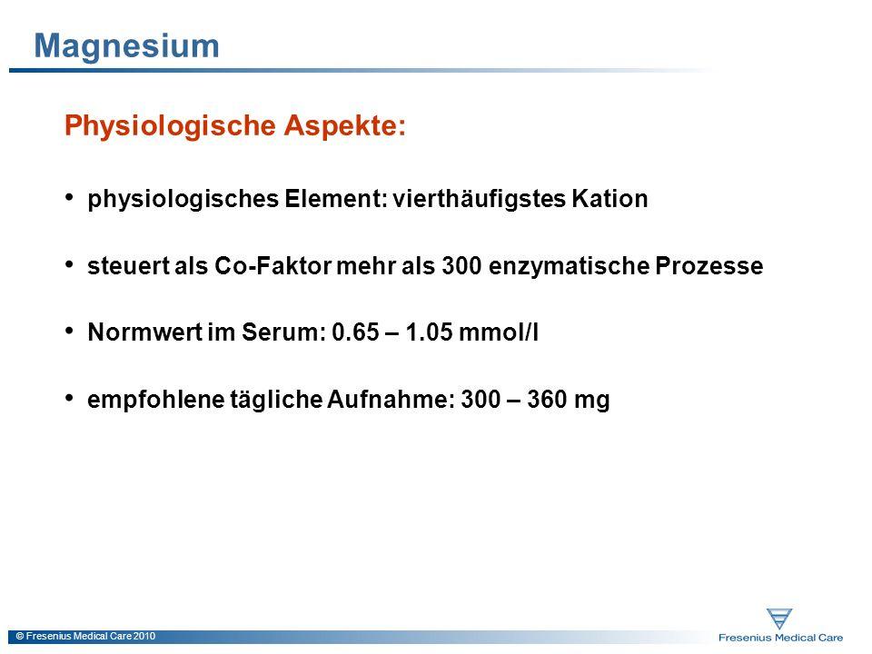 Magnesium Physiologische Aspekte: