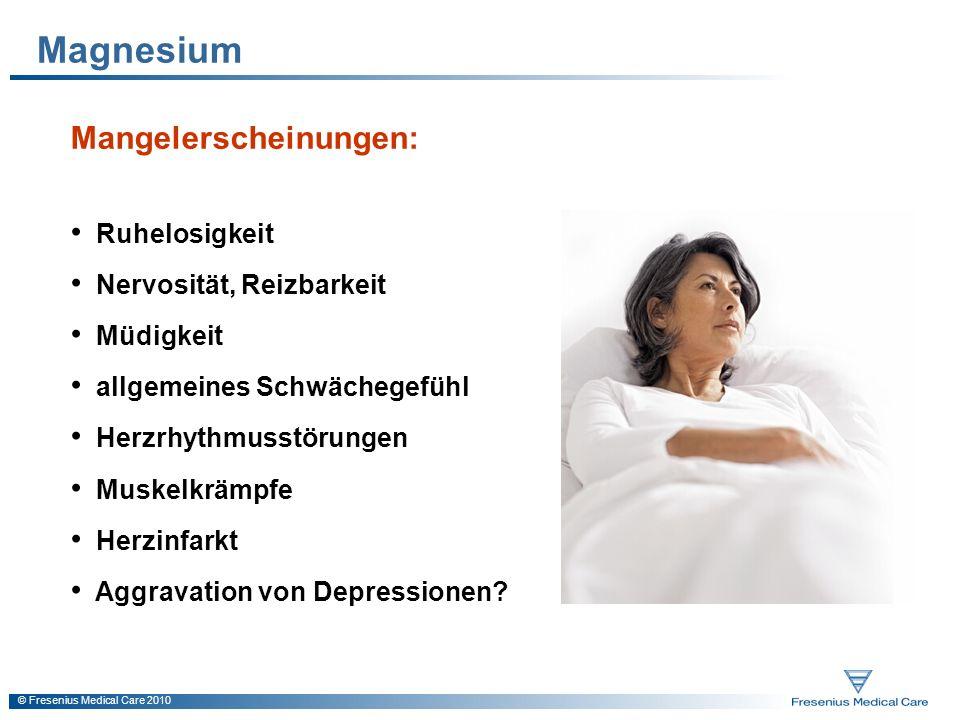 Magnesium Mangelerscheinungen: Ruhelosigkeit Nervosität, Reizbarkeit