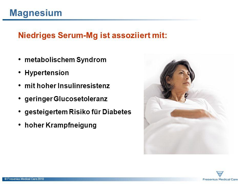 Magnesium Niedriges Serum-Mg ist assoziiert mit: metabolischem Syndrom