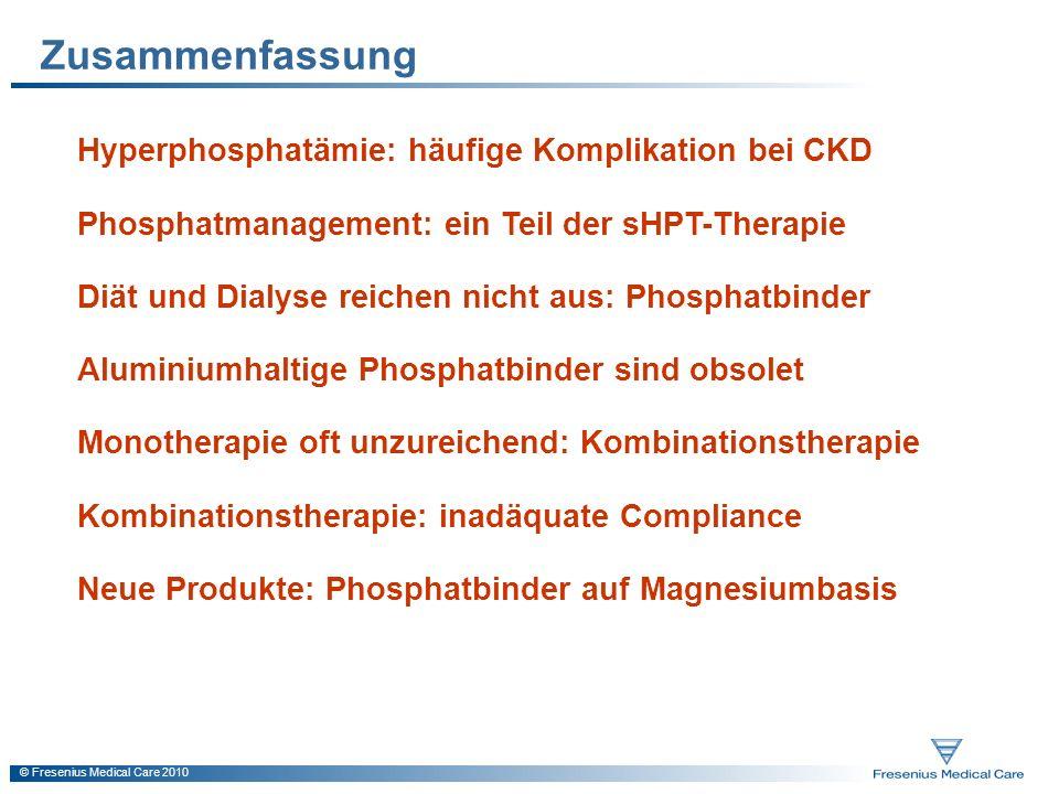 Zusammenfassung Hyperphosphatämie: häufige Komplikation bei CKD