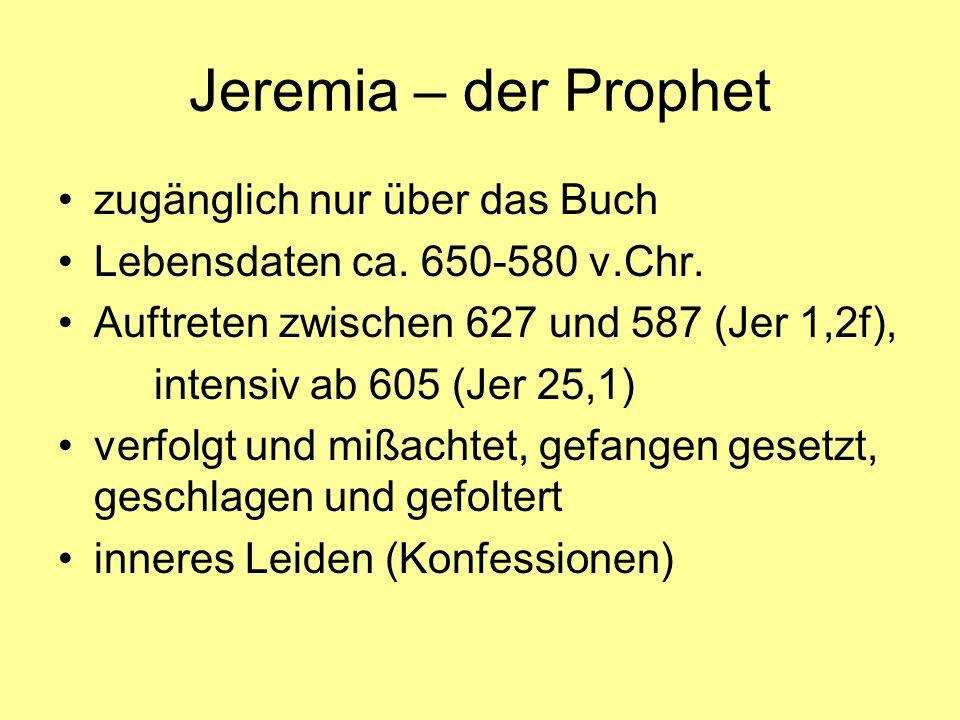 Jeremia – der Prophet zugänglich nur über das Buch