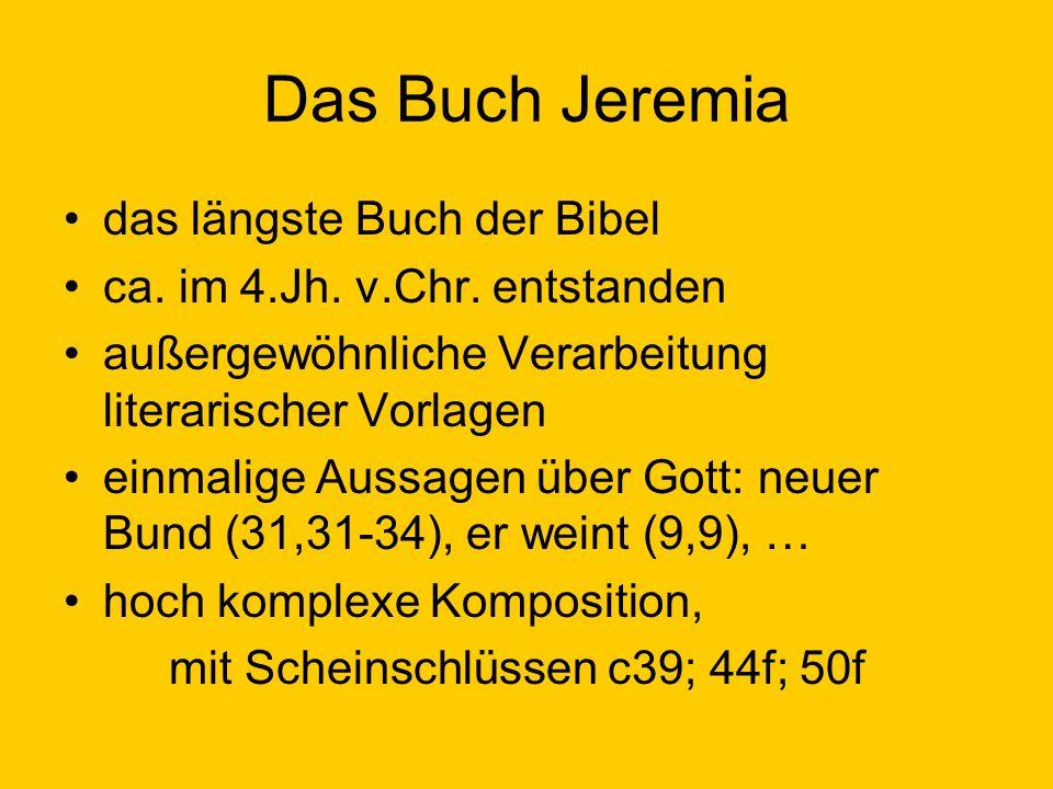 Das Buch Jeremia das längste Buch der Bibel
