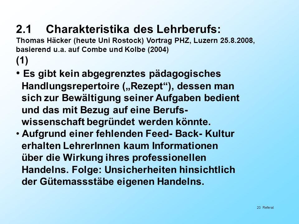 2.1 Charakteristika des Lehrberufs: