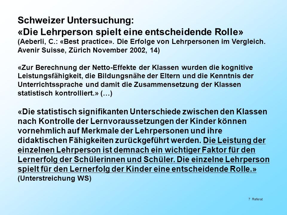 Schweizer Untersuchung: