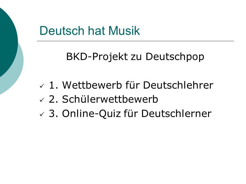 BKD-Projekt zu Deutschpop