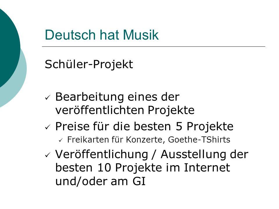 Deutsch hat Musik Schüler-Projekt