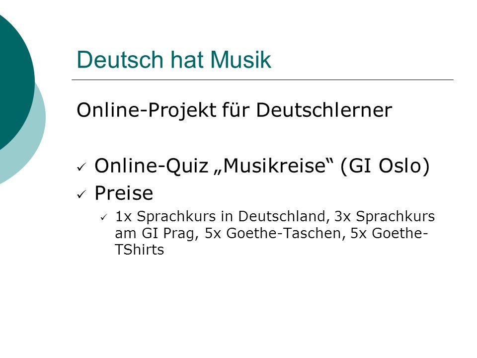 Deutsch hat Musik Online-Projekt für Deutschlerner
