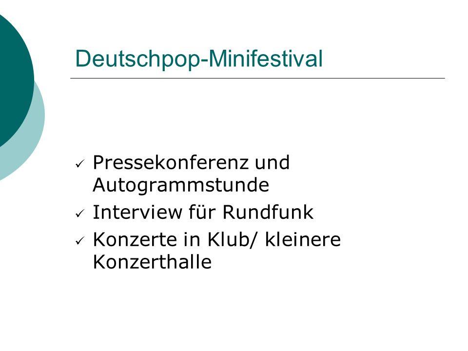 Deutschpop-Minifestival
