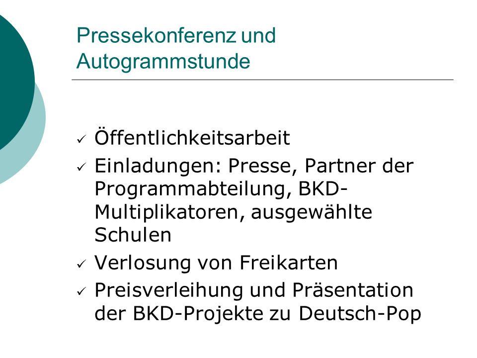 Pressekonferenz und Autogrammstunde