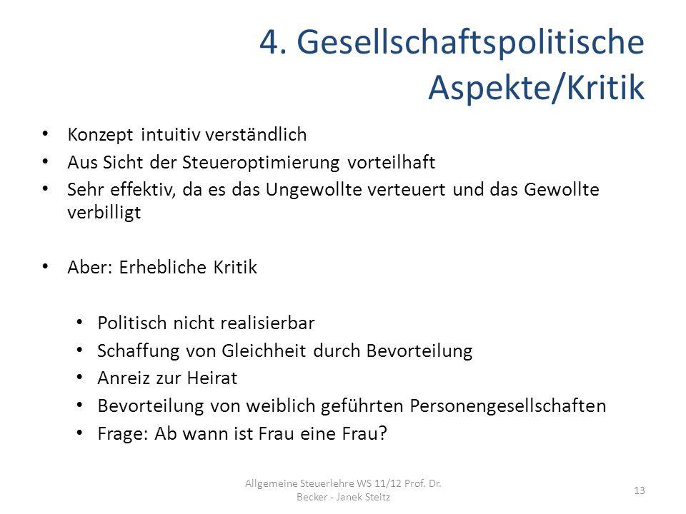 4. Gesellschaftspolitische Aspekte/Kritik