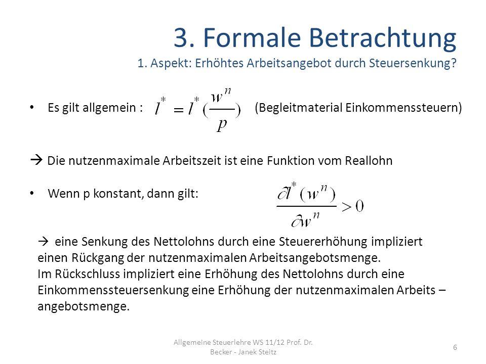 Allgemeine Steuerlehre WS 11/12 Prof. Dr. Becker - Janek Steitz