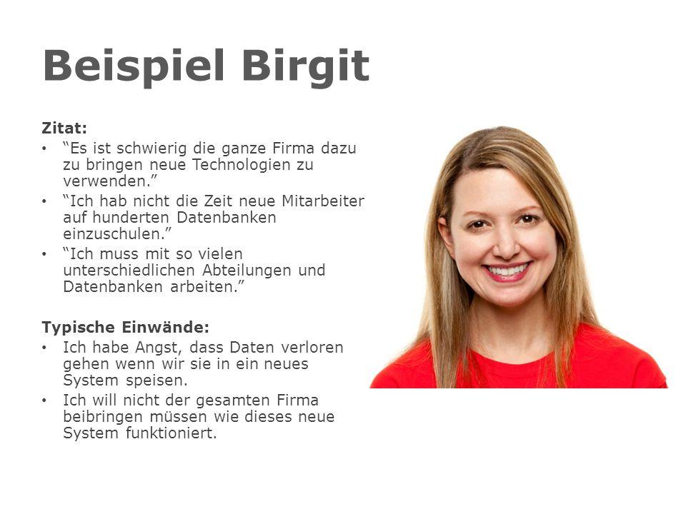 Beispiel Birgit Zitat: