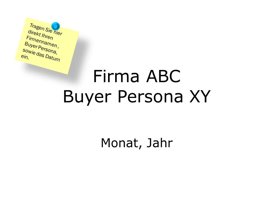 Firma ABC Buyer Persona XY