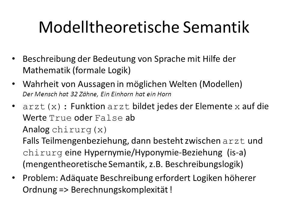 Modelltheoretische Semantik