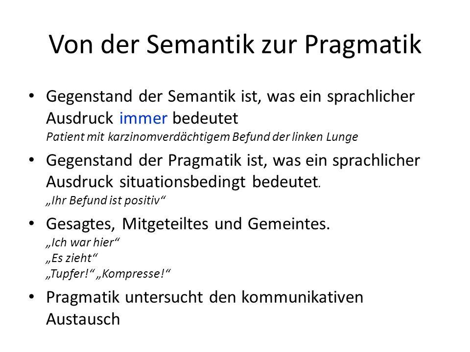 Von der Semantik zur Pragmatik