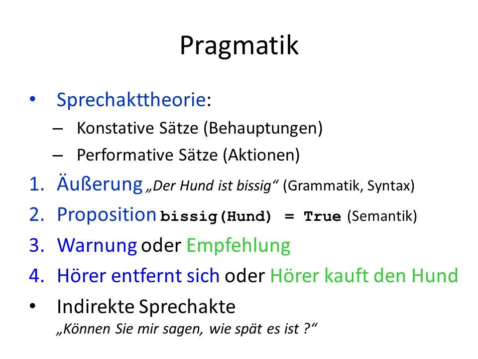 Pragmatik Sprechakttheorie: