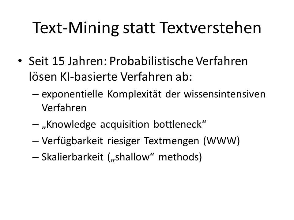Text-Mining statt Textverstehen