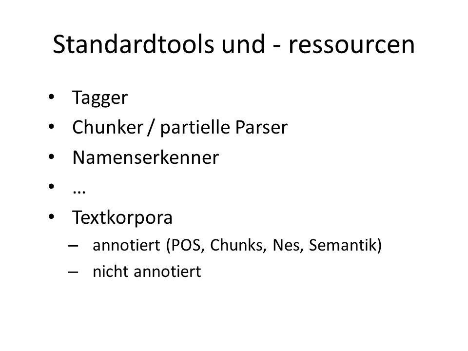 Standardtools und - ressourcen