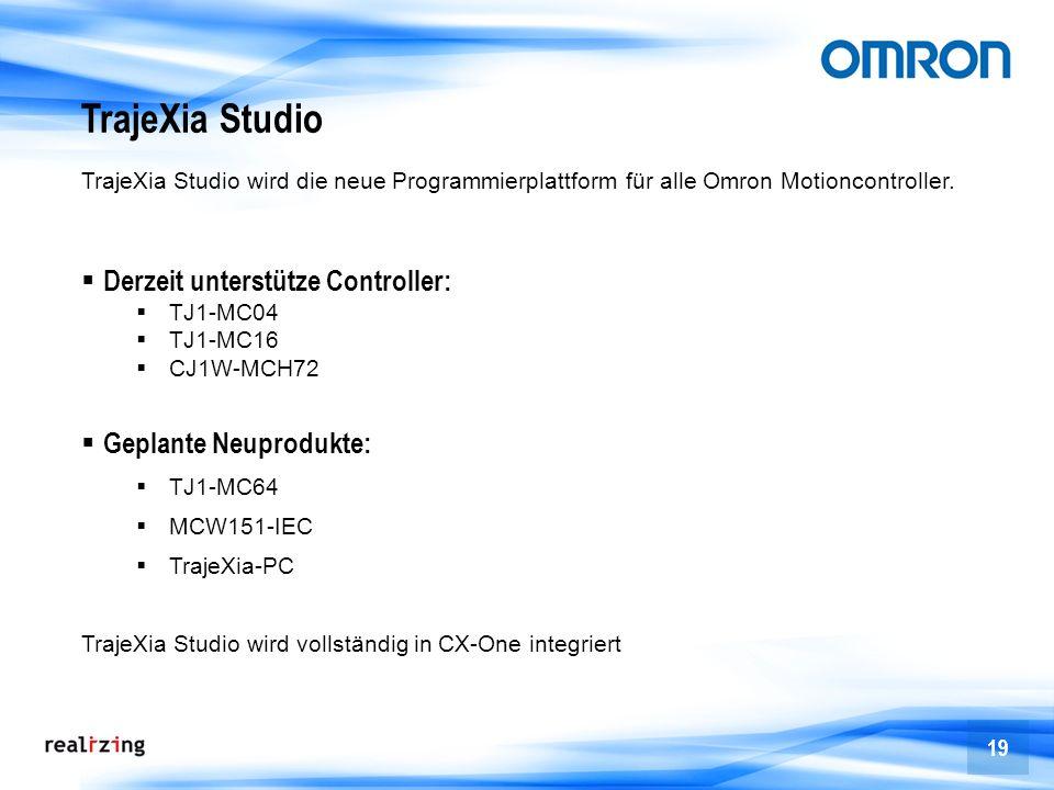 TrajeXia Studio Derzeit unterstütze Controller: Geplante Neuprodukte: