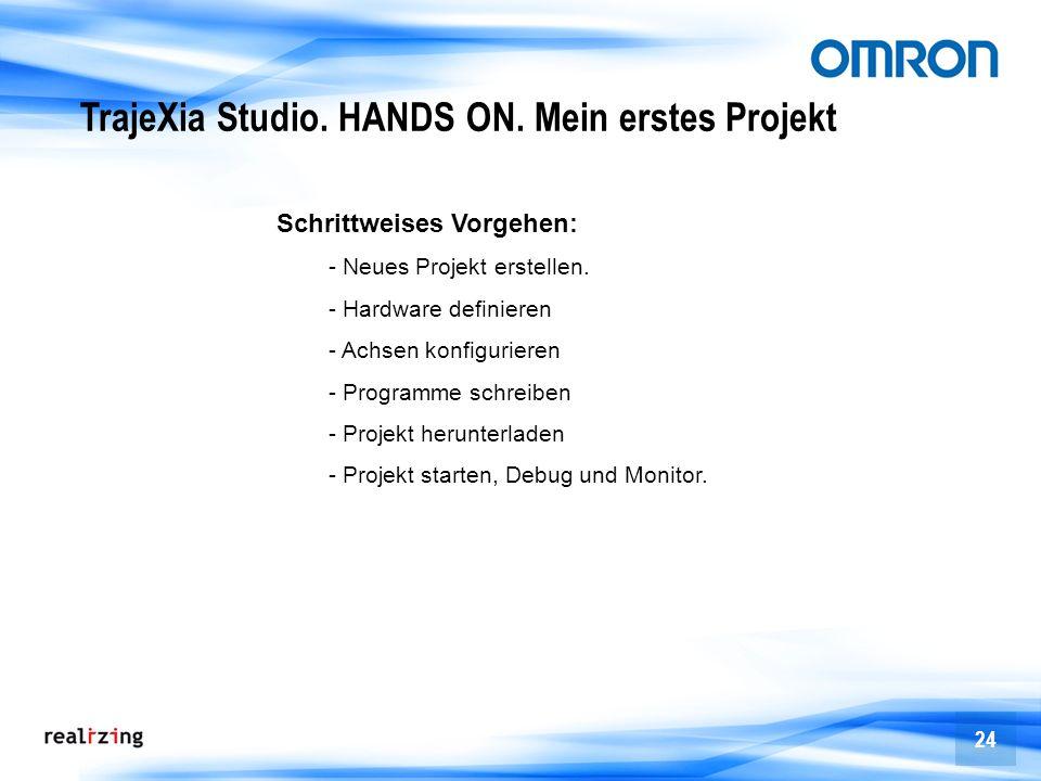 TrajeXia Studio. HANDS ON. Mein erstes Projekt