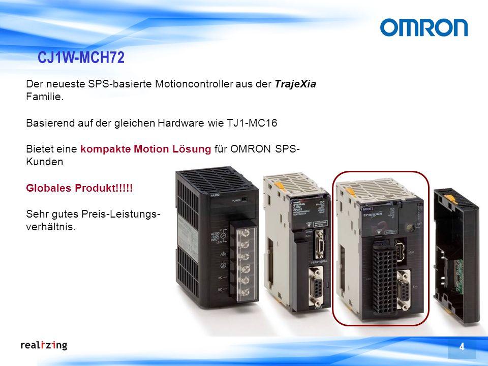 CJ1W-MCH72 Der neueste SPS-basierte Motioncontroller aus der TrajeXia Familie. Basierend auf der gleichen Hardware wie TJ1-MC16.