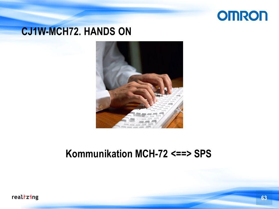 CJ1W-MCH72. HANDS ON Kommunikation MCH-72 <==> SPS