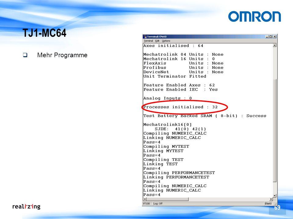 TJ1-MC64 Mehr Programme