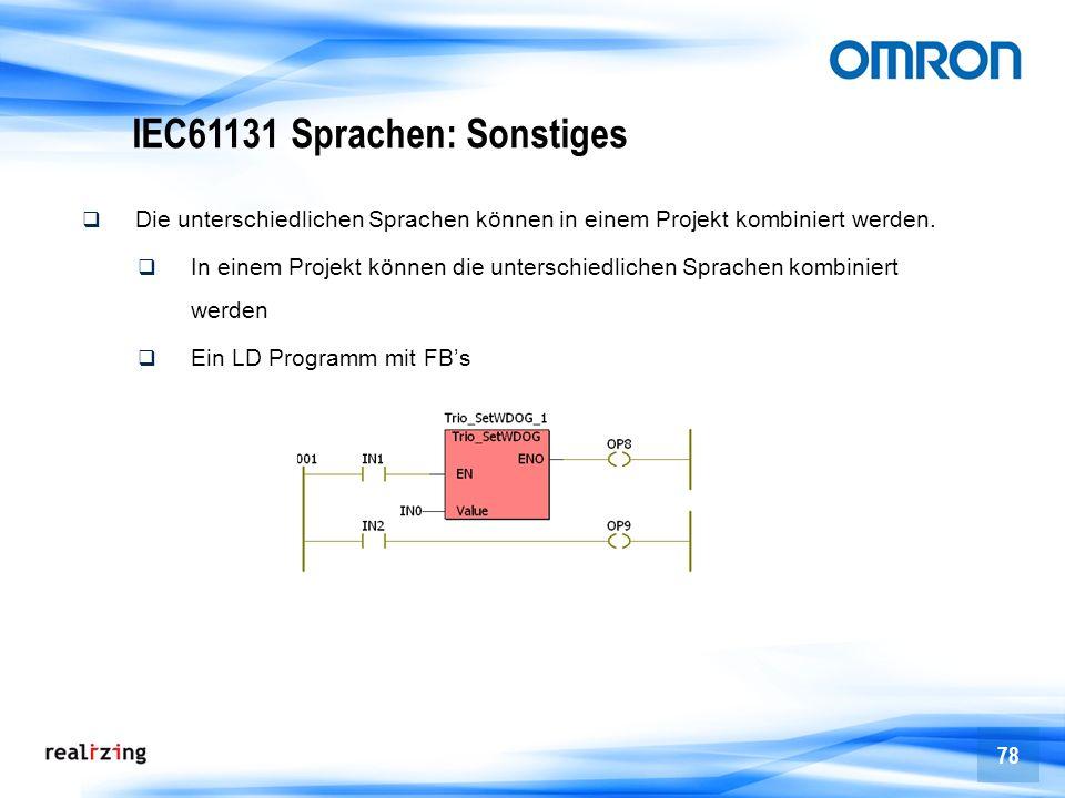 IEC61131 Sprachen: Sonstiges