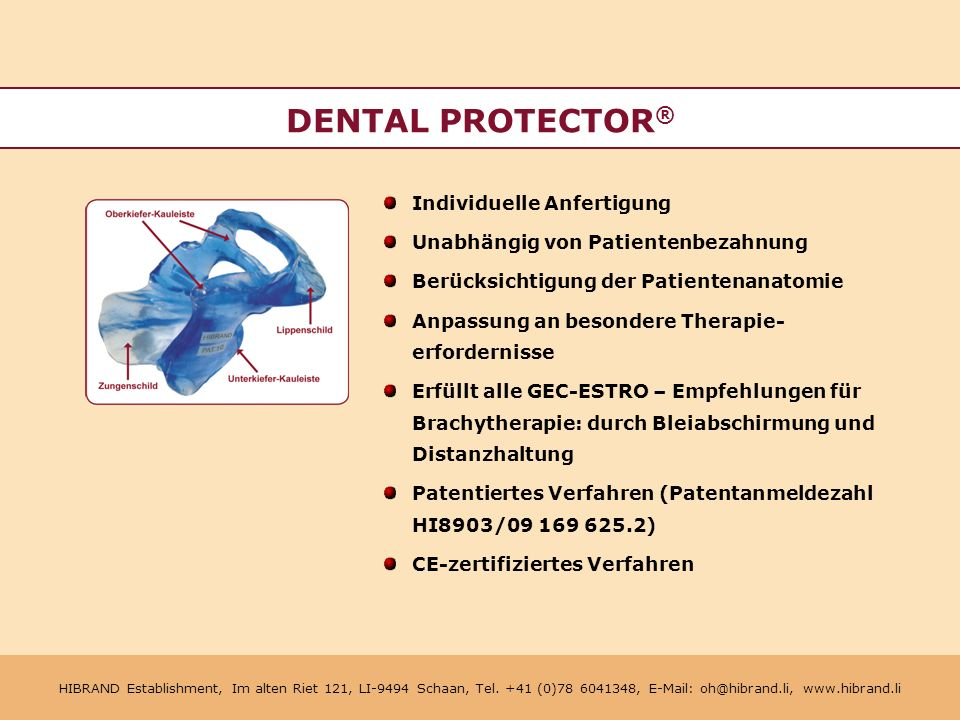 DENTAL PROTECTOR® Individuelle Anfertigung