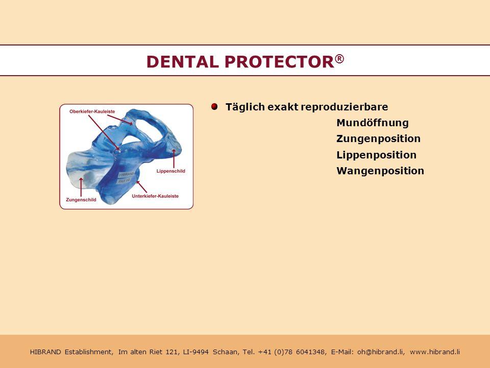 DENTAL PROTECTOR® Täglich exakt reproduzierbare Mundöffnung