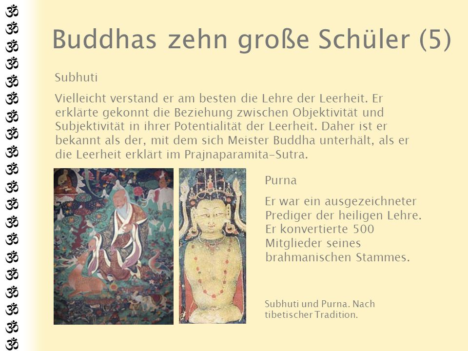 Buddhas zehn große Schüler (5)