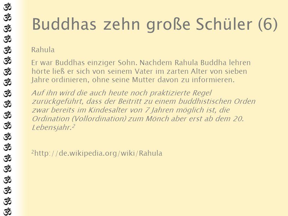 Buddhas zehn große Schüler (6)