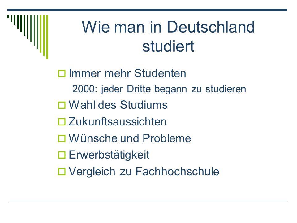 Wie man in Deutschland studiert