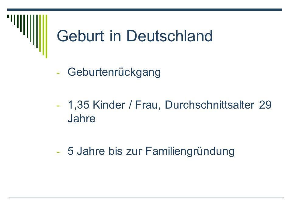 Geburt in Deutschland Geburtenrückgang