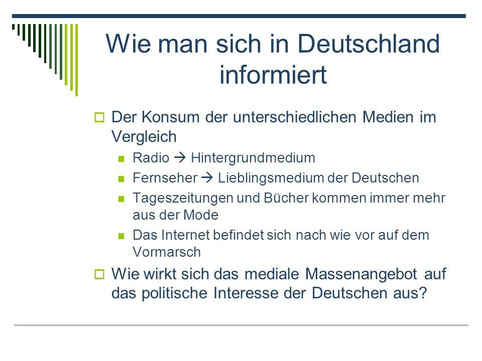 Wie man sich in Deutschland informiert