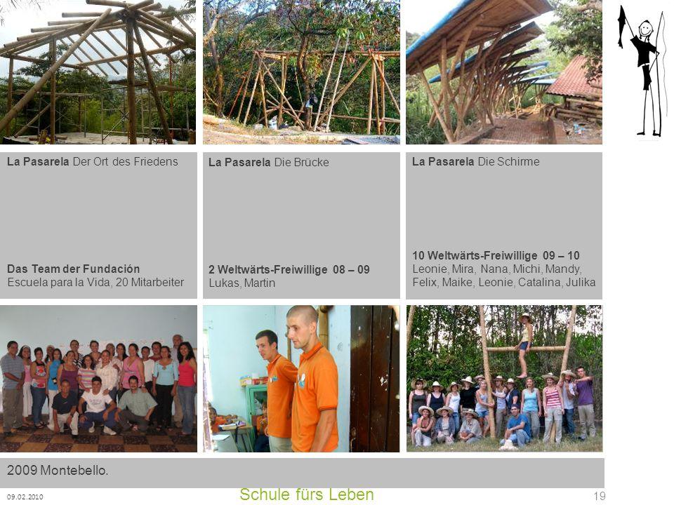 Schule fürs Leben 2009 Montebello. La Pasarela Der Ort des Friedens