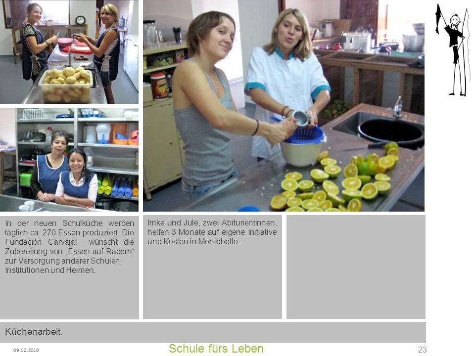 Schule fürs Leben Küchenarbeit.