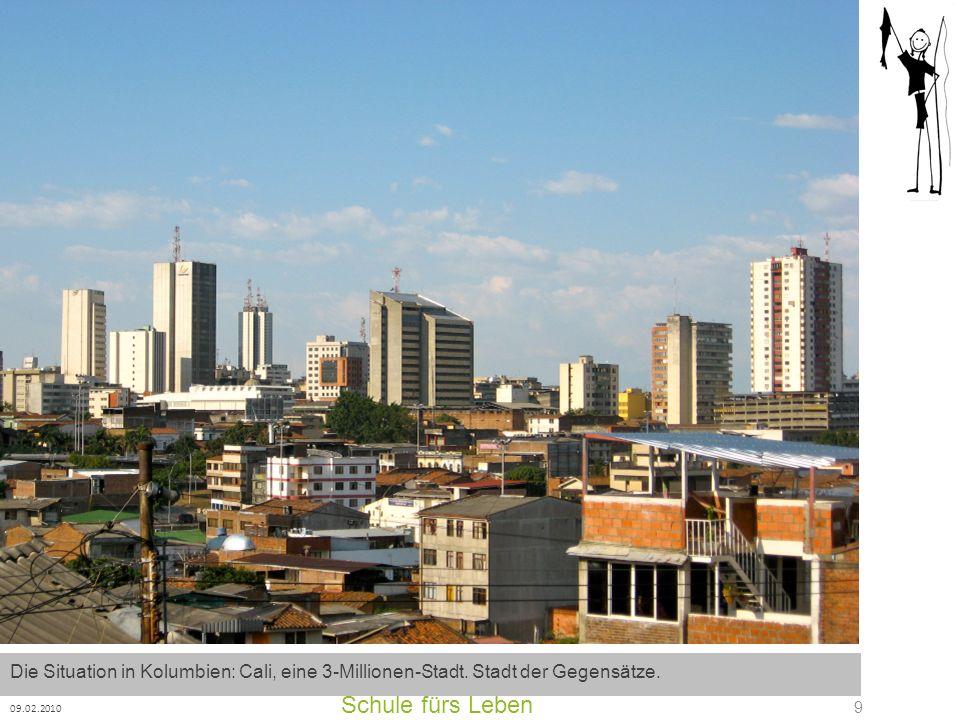 Die Situation in Kolumbien: Cali, eine 3-Millionen-Stadt