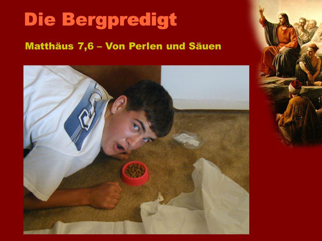 Die BergpredigtMatthäus 7,6 – Von Perlen und Säuen.