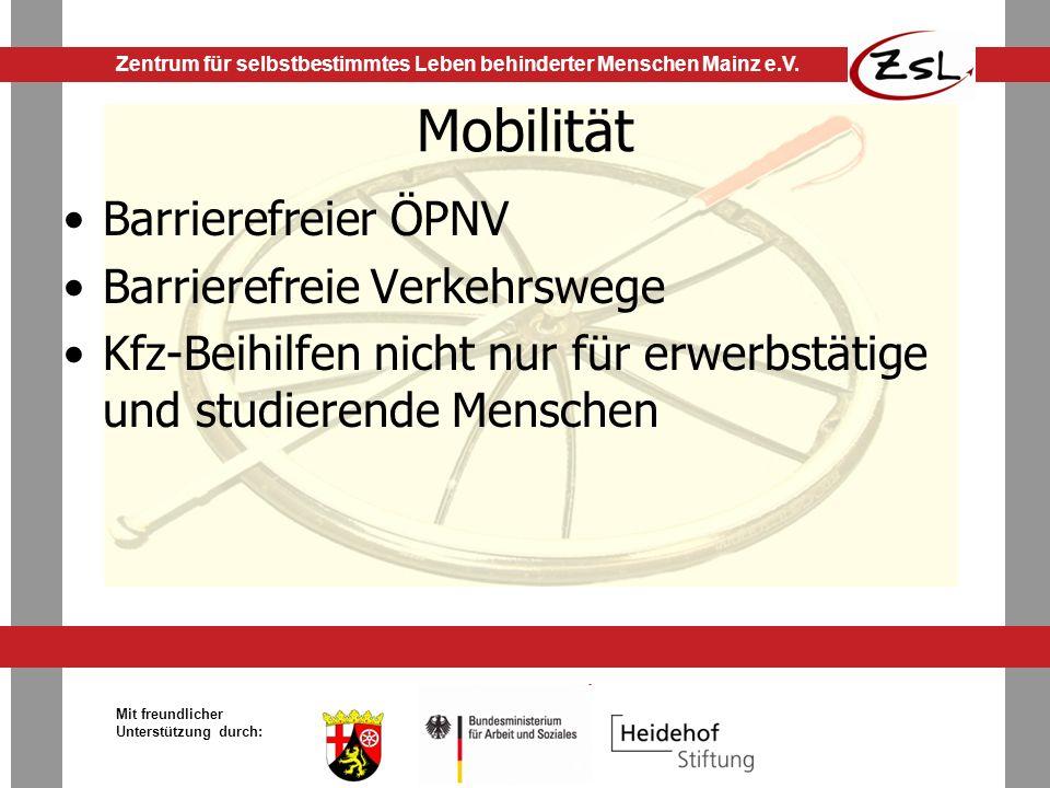 Mobilität Barrierefreier ÖPNV Barrierefreie Verkehrswege