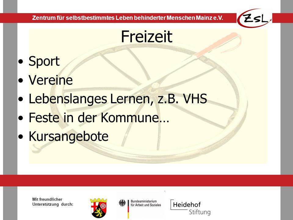 Freizeit Sport Vereine Lebenslanges Lernen, z.B. VHS