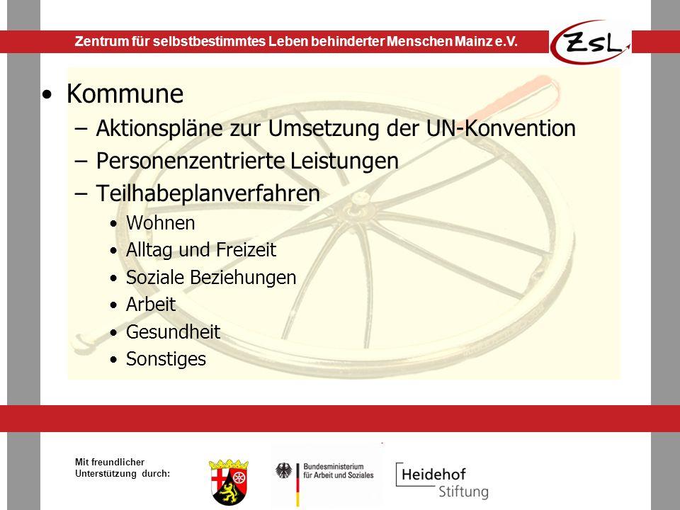 Kommune Aktionspläne zur Umsetzung der UN-Konvention