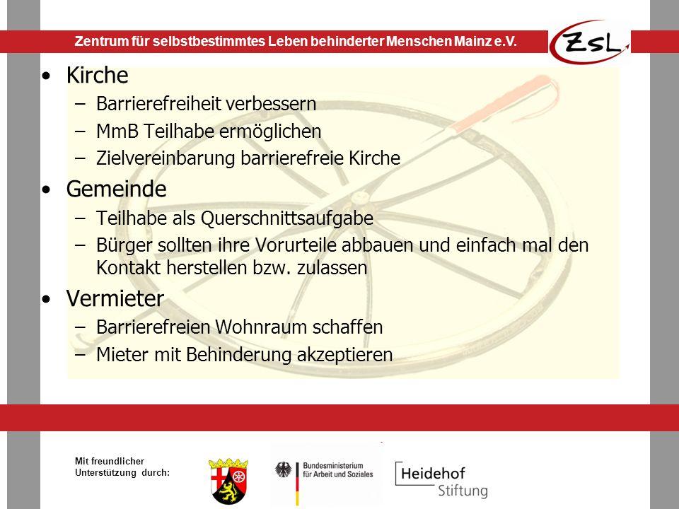 Kirche Gemeinde Vermieter Barrierefreiheit verbessern