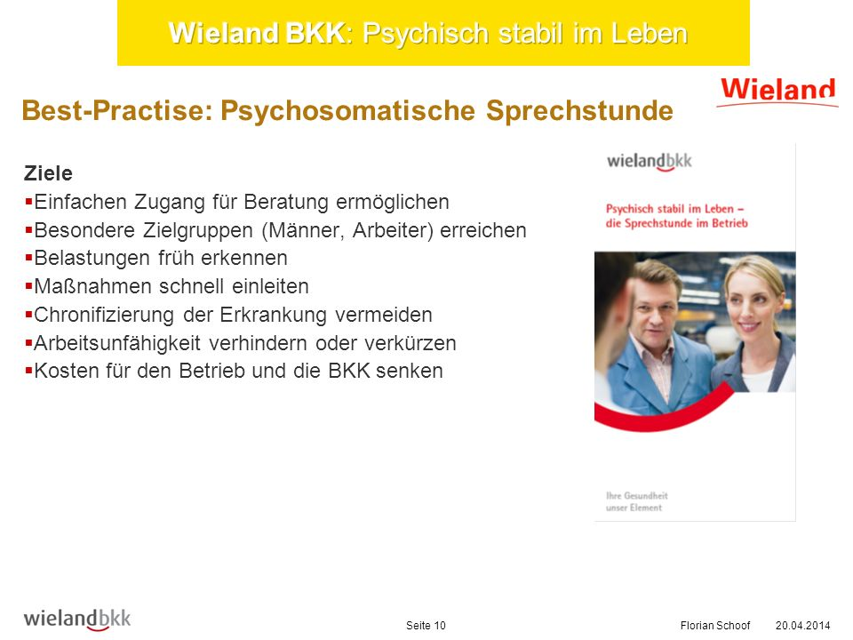 Best-Practise: Psychosomatische Sprechstunde