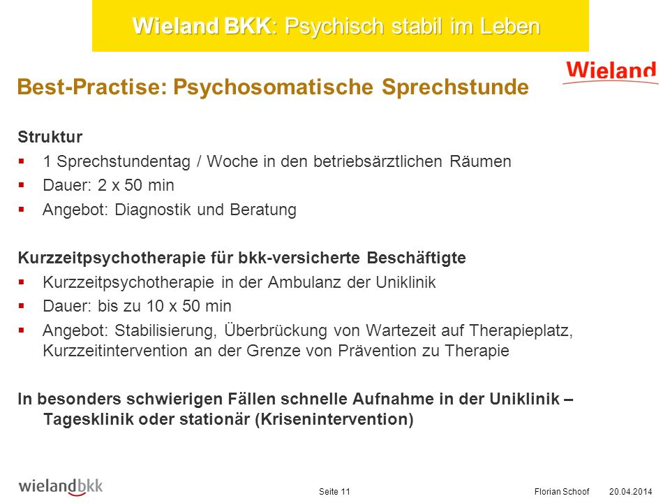Wieland BKK: Psychisch stabil im Leben
