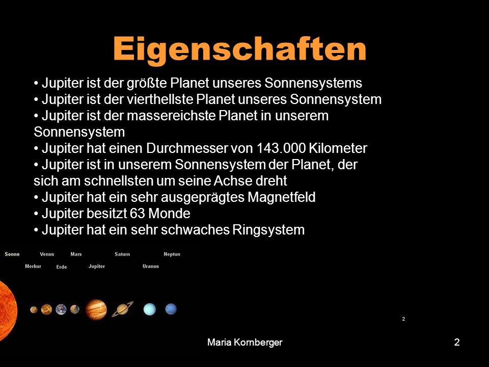 Eigenschaften Jupiter ist der größte Planet unseres Sonnensystems